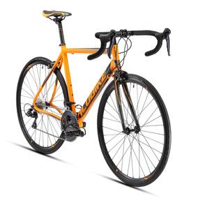 Bicicleta De Ruta Alubike Citroen Sora Naranja/negro T50