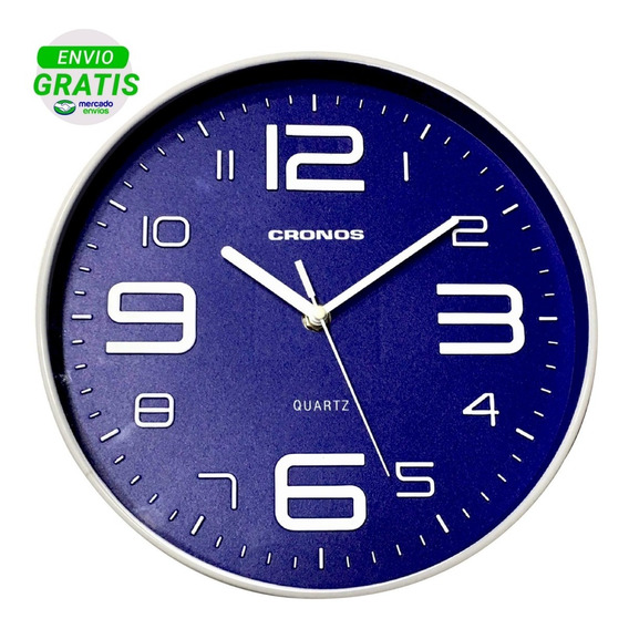 Reloj De Pared Moderno Cronos 25cm Quartz Silencioso