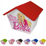 Casinha Cofre Personalizada Barbie 30 Unid Cod 13