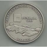 Moneda De Plata. 6000 Bolívares Casa De La Moneda. Año 1.999