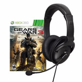 Combo Diadema Mad Catz Ampx Y Juego Gears Of War 3 Xbox 360