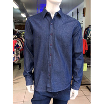 Camisa Masculina Jeans Hering - Só Tam. - M