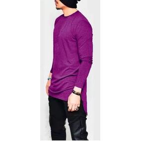 Camiseta Camisa Blusa Manga Longa Oversized Swag Longline