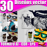 30 Diseños / Vectores / Para Playeras / Ai + Cdr +eps