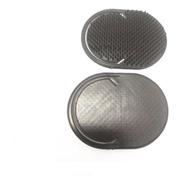 Escova  De Cabelo  De Mão Plástica Oval 6 Unidades