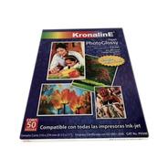 Papel Fotografico Kronaline Ph346 Brillante Carta 50h 260g
