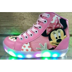 Zapatillas Minnie Luces Led Talle 20 Al 34