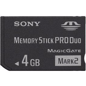 P16 Cartão De Memória Stick Pro Duo Sony 4gb
