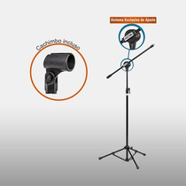 Pedestal P/ Microfone Vector Pmv100p;05846 Unimusic