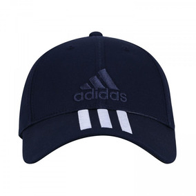Boné adidas Ess 3s Cotton - Strapback - Azul Esc branco 59be22be29c97