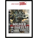 Soldier Of Fortune Payback Ps3 Mídia Física