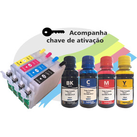 Cartucho Recarregavel Xp231 241 431 441 +tinta Corante Inkte