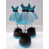 5 Centros De Mesa Vestido Em Eva Festa 15 Anos Paris Barbie