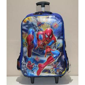 Mochila Escolar 3d Homem-aranha Carrinho Linda