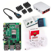 Kit Completo Raspberry Pi 4 4gb Comp Oficiales Microsd 32gb