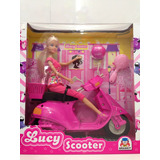 Lucy Scooter Lucy/barbie/susi/rosa Ou Lilás/frete Grátis