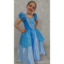 Fantasia Princesa Cinderela Infantil Luxo - Lindíssima
