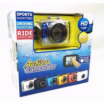 Câmera Filmadora Digital Hd720p Action Camcorder Prova Dágua