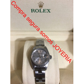 Rolex Datejust Acero De Dama Con Caja Y Papeles Impecable