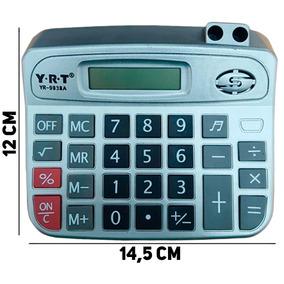 Calculadora Mesa 8 Dígitos Escritório A Pilha 9838