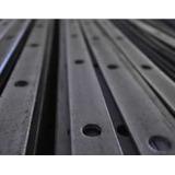 Planchuela Perforada 1 X 3/16 Para Cuadrado 1/2 Tira 6 Mts