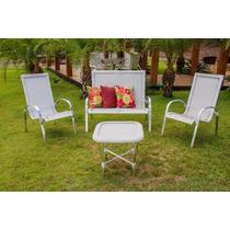 Kit Namoradeira, 2 Cadeiras + Mesa Para Jardim Piscina Sala