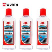 Kit 4 Water Off Cristalizador Parabrisa Repelente De Agua