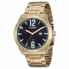 dbd7a2b54b9 Relogio Mondaine Dourado Analogico 83119lpmede1 Masculino - Relógio ...