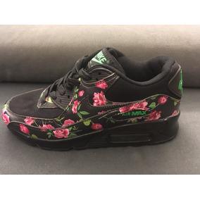 zapatillas air max floreadas