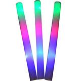 ?? ¿ 100 Paquete De 18 Color De Espuma Baton Luz Led Multi