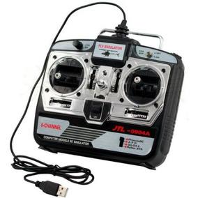 Rádio Simulador De Vôo 6 Canais Usb R/c - Aeromodelismo