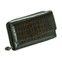 Billetera Mundi Negro Croc My Big Fat Wallet Organizad W318