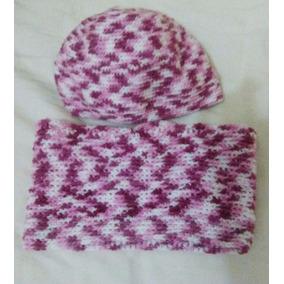 Conjunto De Bufanda Y Gorro Tejido A Crochet