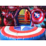 Brincolin Inflable Avengers Con Resbaladilla Uso Rudo