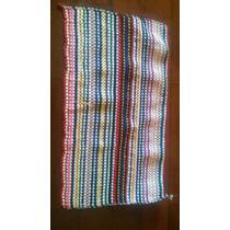 10 Tapete Fibras Retalhos Casa Da Vó Colorido 32x55cm