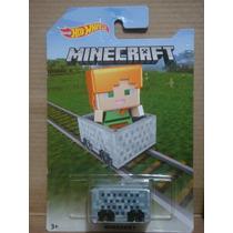 Hot Wheels 2016 Minecart Alex Minecraft