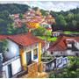 Quadro Ouro Preto 70x70cm Pintura Óleo Sobre Tela