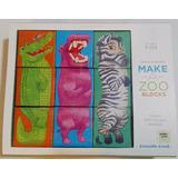 Haz Un Zoológico 9 Cubos Bloques Puzzle Animales +3 Años