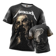 Camiseta Metallica Masculina Estonada James Hetfield Other P