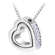 Regalo Dije Collar Corazón Swarovski Element Envío Gratis!!!