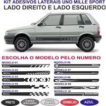 Faixa Lateral Sport Fiat Uno Mille Fire Way Economy Kit