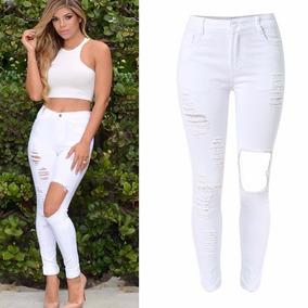 Calça-feminina-moda-2017-destruído-rasgado-cintura-alta-skin
