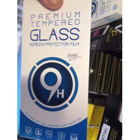 Mica Universal 4.7 Pulgadas Cristal Templado 9h Envio Gratis