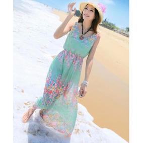 Lote De 4 Maxi Vestido Elegante De Playa Para El Verano