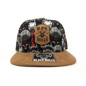 Bon Aba Reta Black Bulls Caveira Floral Snapback Top A68 1b0d0777423