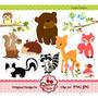 Kit Imprimible Animales Del Bosque Imagenes Clipart Cod 5