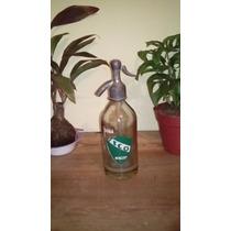 Antiguo Sifón De Soda Cabeza De Plomo De 1/2 Litro De Fco