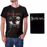 Camiseta Death Note Anime + Caderno Death Note Kira Ryuk