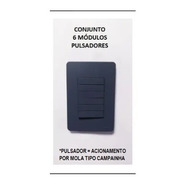 Conjunto 4x2 Pulsador 6 Teclas 1/2 Modulo Orion Schneider