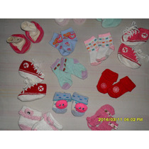 Lote De Meias E Sapatinhos Para Bebê Menina (semi Novo)